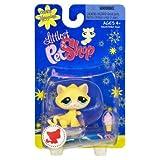 Littlest Pet Shop Happiest Single Figure Yellow Cat With Ice Cream Cone
