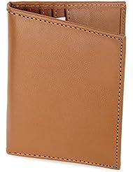 High Quality Genuine Soft Black Leather Credit Card Holder Wallet - Khaki - [10 Cards] - AMZSL542M