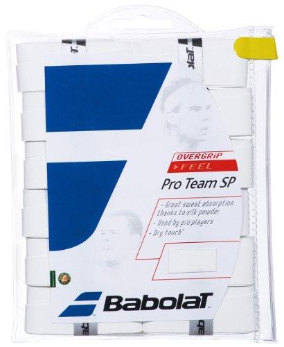 Babolat 654006-101 Pro Team SP X 12 Overgrip (White)