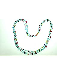 Fashion Jewelry Necklace With Multi Color Beads 38.59 Gms