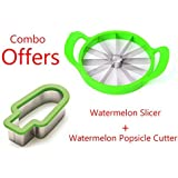 Orpio Watermelon Slicer - All Melon Cutter/Slicer With Watermelon Popsicle Cutter FREE