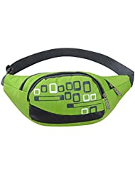 MaxMAxi Water Resistance Nylon Runners Belt Waist Pouch Waterproof Runners Waist Pack For Men And Women (Green)