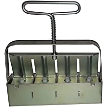 Hand-held 4 Soil Blocker With Black Comfort Grip....Easy On Hands And Won't Show The Dirt!
