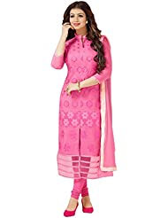 7thwonder Pink Color Party Wear Embroidered Chanderi Cotton Semi-Stitched Salwar Suit-7WG977DL125ZE