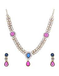 Nimble Golden Metal Choker Necklace Set For Women - B00XVMK01I