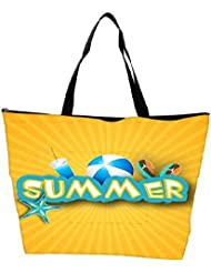 Snoogg Abstract Summer Background Waterproof Bag Made Of High Strength Nylon - B01I1KMIPK