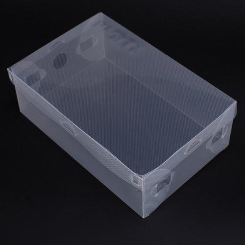 Caja de zapatos transparente