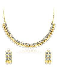 Sukkhi Angelic Gold Plated AD Necklace Set
