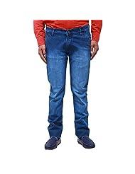 Bluemont Light Blue Cotton Slim Fit Jeans For Men