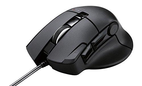 ELECOM MMOゲーミングマウス 有線 10ボタン ハードウェアマクロ対応 3500dpi ブラック M-DUX31BK