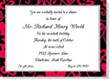10 Moulin Rouge Invitations with white envelopes. Printable.