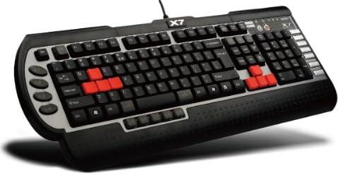 A4TECH G800Vメンブレン 英語キーボード マクロ機能搭載 搭載メモリ96K X7-G800V-JP(E)
