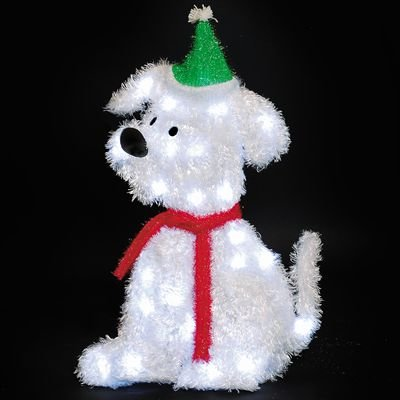 Light Up Dog Christmas Decoration Libridacqua