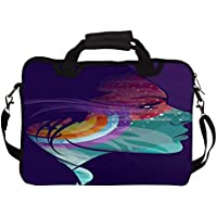 """Snoogg Tattoo Lady 10"""" 10.5"""" 10.6"""" Inch Laptop Notebook SlipCase With Shoulder Strap Handle Sleeve Soft Case With..."""