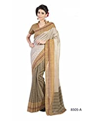 Sonal Saree Silk Cotton Saree (8505-A _off White)