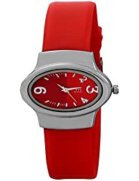 WATCH ME SILICON RUBBER MULTICOLOR PINK RED GOLD SILVER WATCH FOR WOMEN AND GIRLS WM-111-R