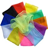 """Hoerev Small Pack Of 12 (Approx. 16"""" X 16"""") Juggling(Dance) Scarves ,Small Floaty Scarves For Small People,Single..."""