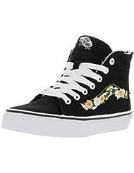 Vans Kids Sk8-Hi Zip Daisy Skate Shoe Black/True White 11 M US Little Kid