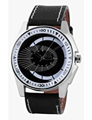Watch Me Black Genuine Leather Analogue Watch For Men WMAL-068-B