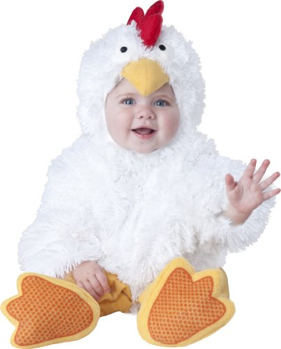 InCharacter Baby's Cluckin' Cutie Chicken Costume, White, Large