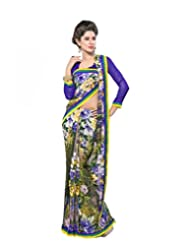 FadAttire Georgette Chiffon Printed Saree With Blouse FAPKS09