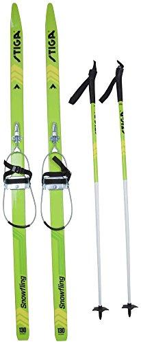 Stiga Langlauf Ski Set 110 cm XC Ski Snow Fling green 130 cm