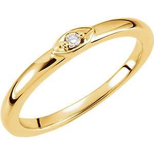 IceCarats Designer Jewelry 14K Yellow Gold Diamond Ring. Size 6