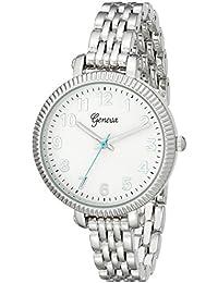 Geneva Women's 2439B-GEN Analog Display Analog Quartz Silver Watch