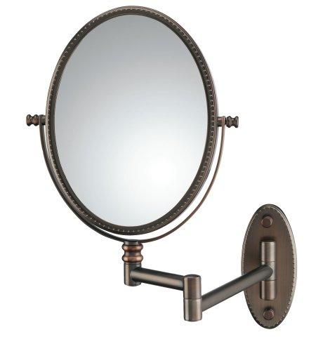 beaded oval wall mount mirror