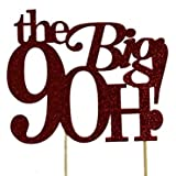 All About Details Red The Big 9OH! Cake Topper