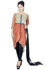 Tehzeeb Women's Georgette Straight Salwar Suit - B0160ZTJY6