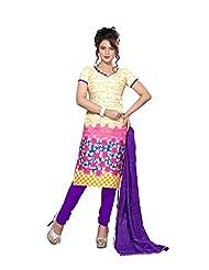 Rudra Fashion Printed Unstitched Salwar Kurta Dupatta Dress Material.