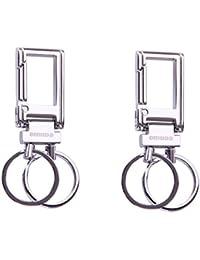 City Choice Omuda 3730 Metal Hook And Locking Key Chain High Quality Keyring ,Combo Of 2 Pcs.