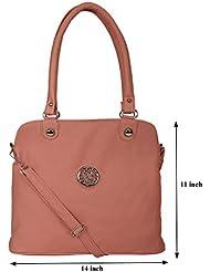 Kacey::Kacey Pink Shoulder Bag::Kacey Shoulder Bag::Plain Shoulder Bag::Women Shoulder Bag::PU Shoulder Bag::Casual... - B01I71SHH6