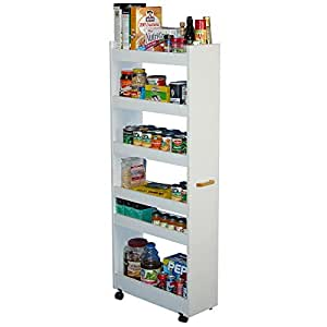 kitchen cabinets amazon venture horizon thin pantry cabinet white 2867