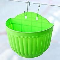 Plastic Flower Pots Hanging Garden Basket Plant Planter Home Decor #G Green New