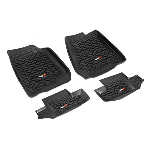 Rugged Ridge All-Terrain 12987.02 Black Front and Rear Floor Liner Kit For Select Jeep Wrangler Models