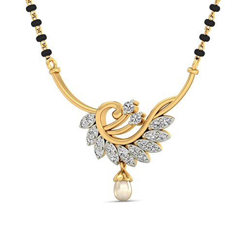 WearYourShine By PC Jeweller The Aurora 18 K Gold And Diamond Mangalsutra