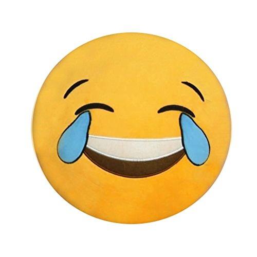 Icône Emoji Emoticône Smiley Jaune Ronde Coussin de Canapé épaulière d'oreiller peluche...