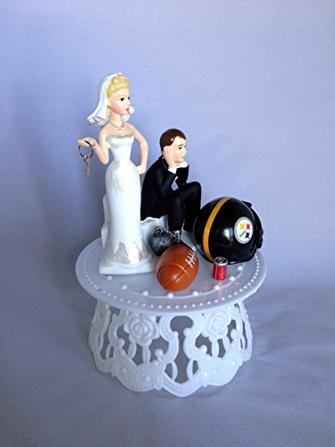 wedding cake toppers pittsburgh pa wedding cake topper pittsburgh steelers football 26582