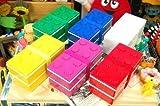 LEGOブロック 2段ランチボックス 保冷剤&お箸付き 4色(グリーン)