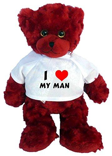 Plush Bear Toy with I Love my man t-shirt