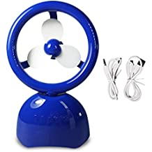 Portable Travel Friendly Fan - Handheld USB Rechargeable - Bluetooth Speaker - Desk Table Fan For Home, Office...