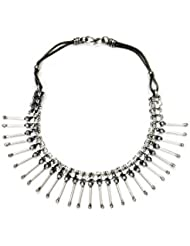 Vinnis Silver Spikes Metal Alloy Necklace