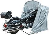 Motorradgarage Faltgarage Motorrad Roller Moped Garage Schutzplane Zelt Grau XL