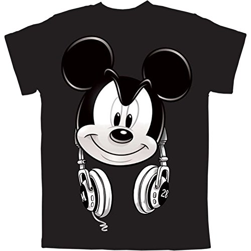 Mickey Mouse Headphones Big Boys Graphic T Shirt (M (8))