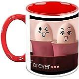 HomeSoGood Friends Forever In My Heart White Ceramic Coffee Mug - 325 Ml