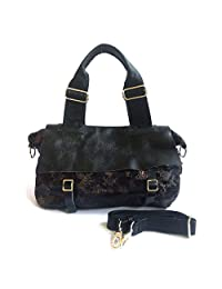 X-WELL Girls Hand-held Bag Black Non-Leather BGH-01-A
