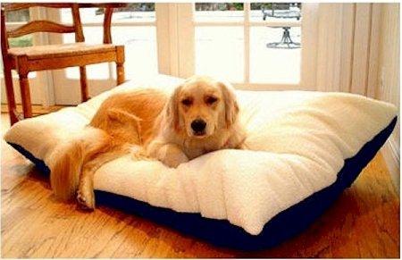Majestic Pet 36 by 48 Rectangle Pet Bed, Large, Khaki