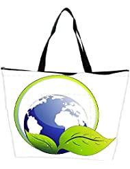 Snoogg Abstarct Ecology Concept Background Waterproof Bag Made Of High Strength Nylon